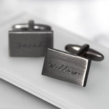 Personalised Rectangular Name Cufflinks