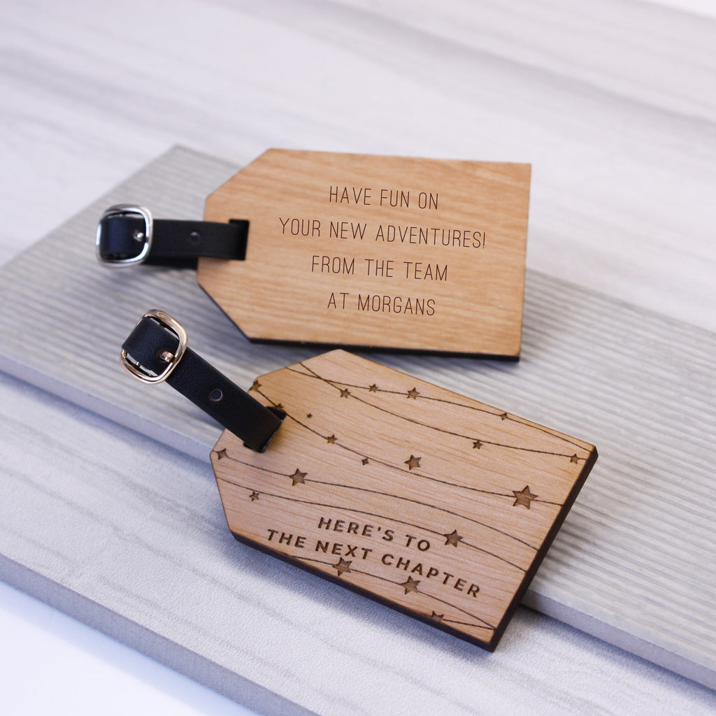 Personalised Next Chapter Luggage Tag