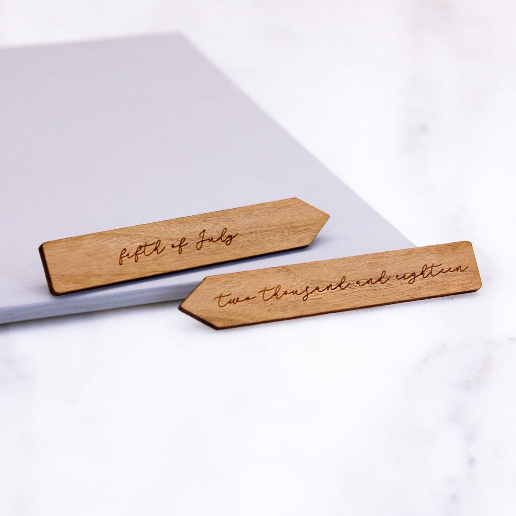 Wooden Written Date Collar Stiffeners