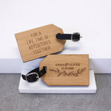 Personalised Wedding Wreath Luggage Tags