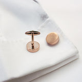 Hidden Personalised Message Twist Cufflinks