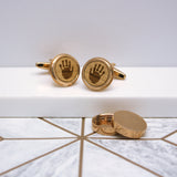 Hidden Handprint Twist Cufflinks
