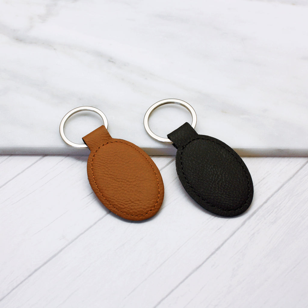 Personalised Coordinate Faux Leather Keyring
