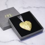 Personalised Couples Heart Locket Christmas Decoration