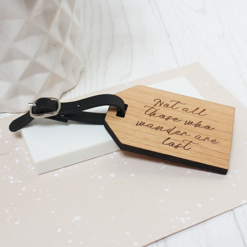 Personalised Travel Quote Luggage Tag – Maria Allen Boutique