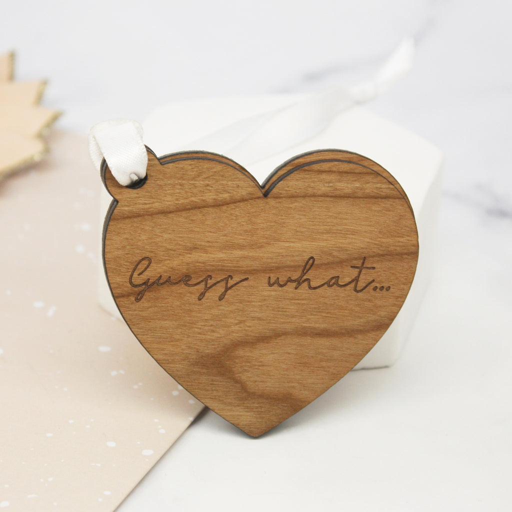 Pregnancy Announcement Sliding Heart Decoration