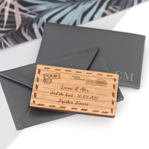 Personalised Leather Envelope Cardholder