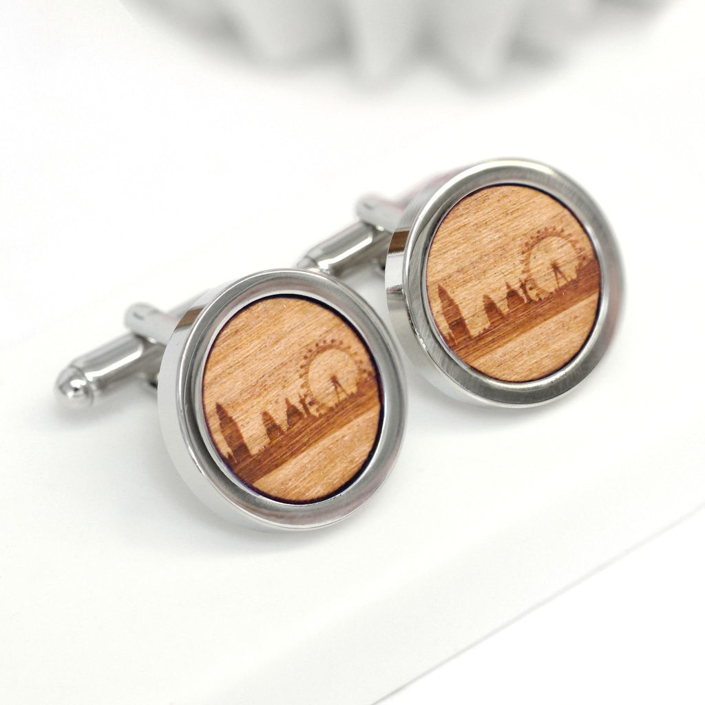 Wooden London Skyline Cufflinks