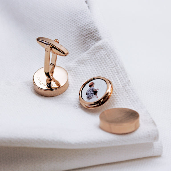 Hidden Photo Twist Cufflinks