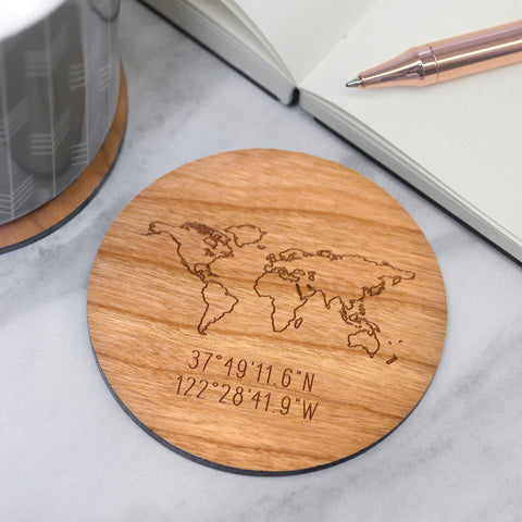 Personalised Map Coaster