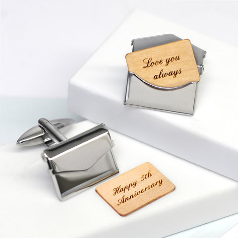 Personalised Envelope Cufflinks - Seconds