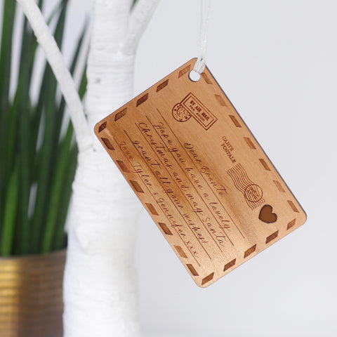 Personalised Wooden Postcard Decoration