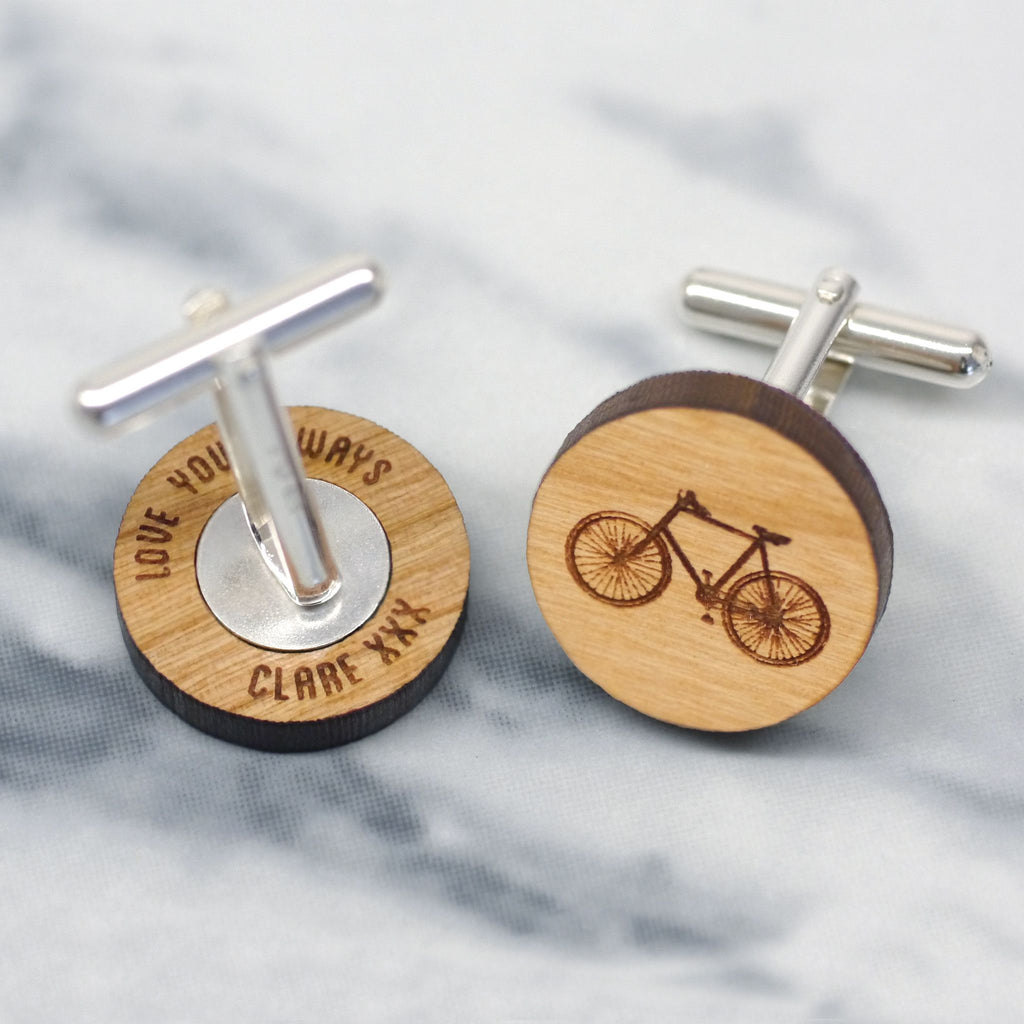 Bicycle design cufflinks