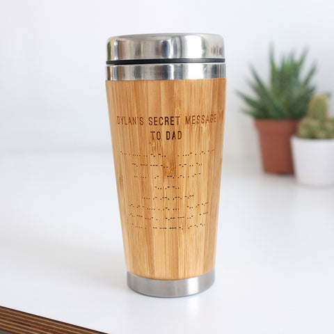 Personalised Morse Code Travel Mug