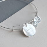 Personalised Sterling Mama Bear Bangle