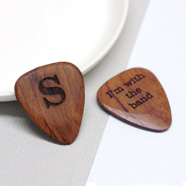 Wooden plectrum
