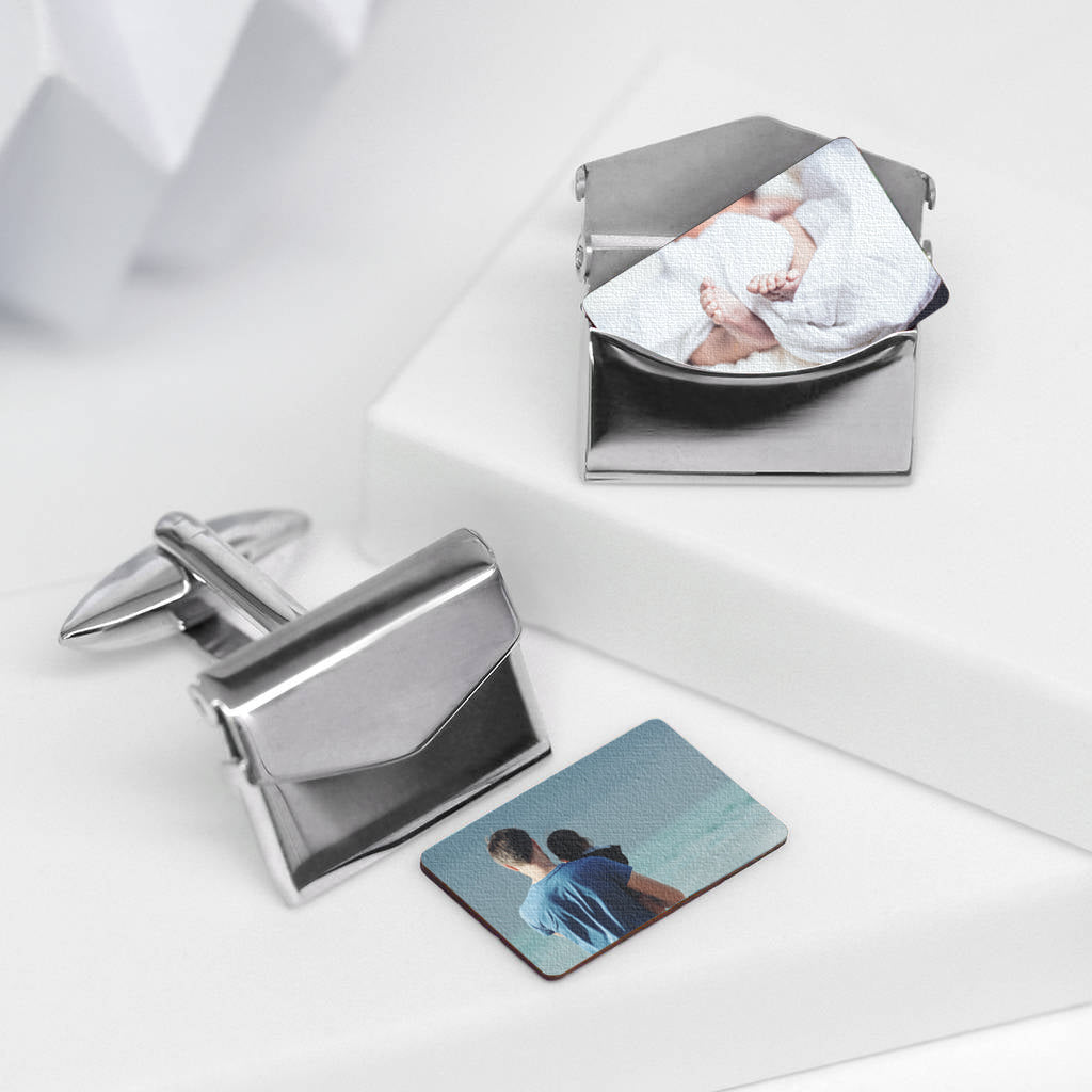 Personalised Photo Envelope Cufflinks