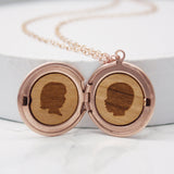 Personalised Portrait Silhouette Locket Necklace