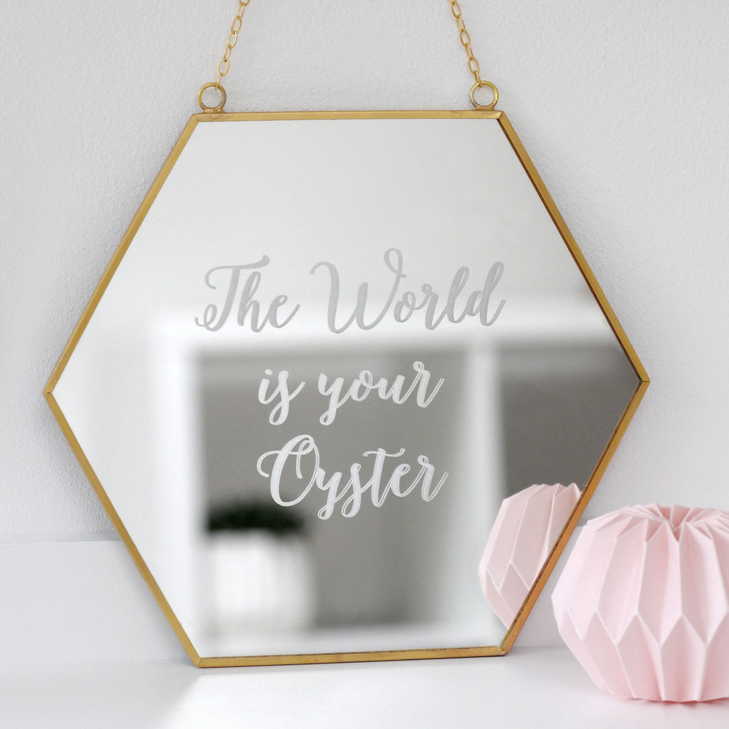Personalised Hexagon Mirror
