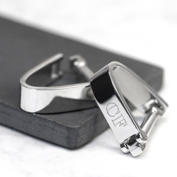 Personalised Rhodium Wrap Around Cufflinks