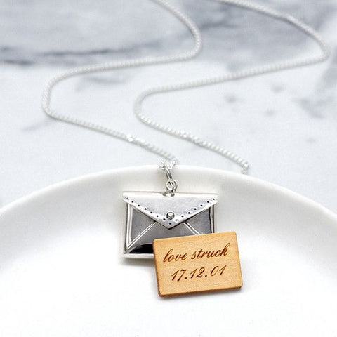Personalised Sterling Silver Love Letter Necklace