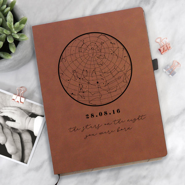 Personalised Star Map Notebook