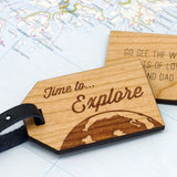 Wooden personalised luggage tag