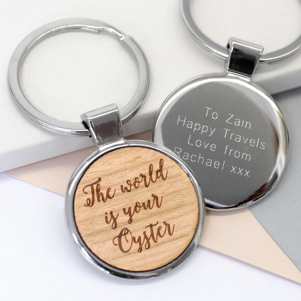 Wooden Engraved keyring