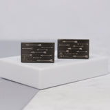 Personalised Arrows and Initial Rectangle Cufflinks