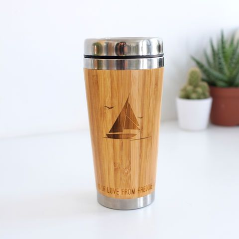 Personalised Wooden Hobby Travel Mug