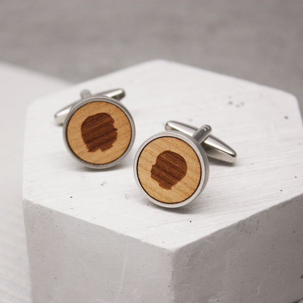 Personalised Portrait Cufflinks