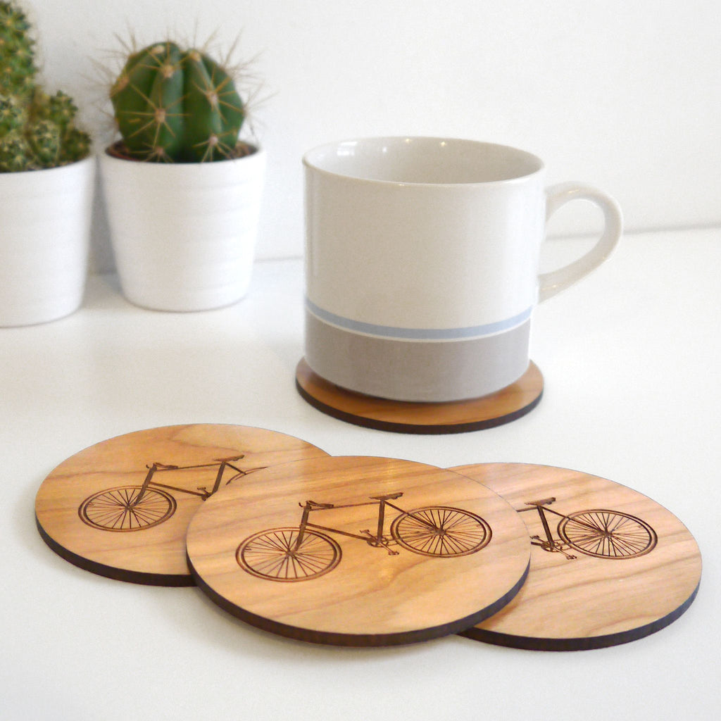 Wooden etched coasters