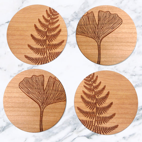 Set Of Four Botanical Coasters