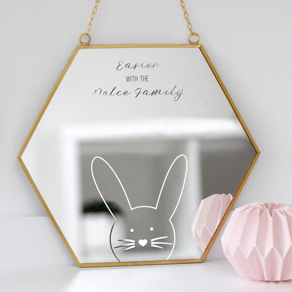 Personalised Easter Hexagon Mirror