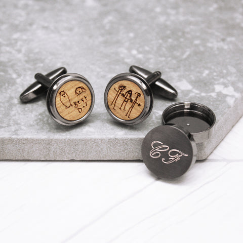 Hidden Child's Drawing Twist Cufflinks