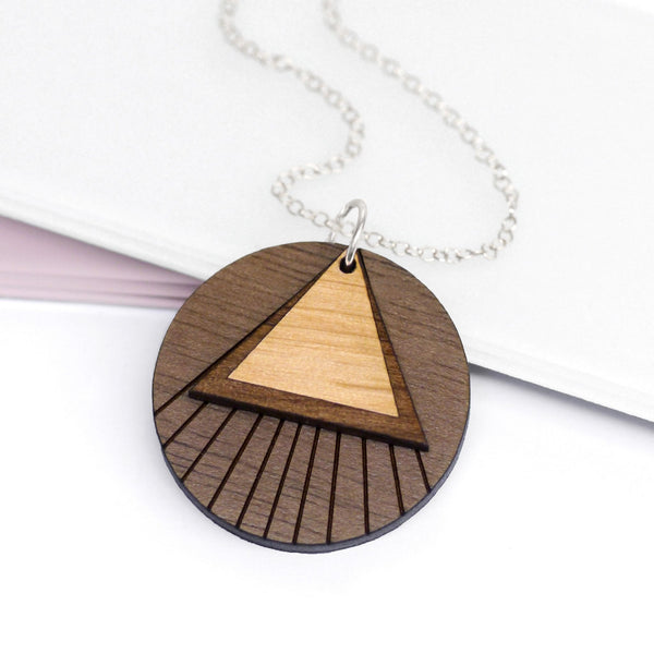 Wooden Layered Circle Necklace