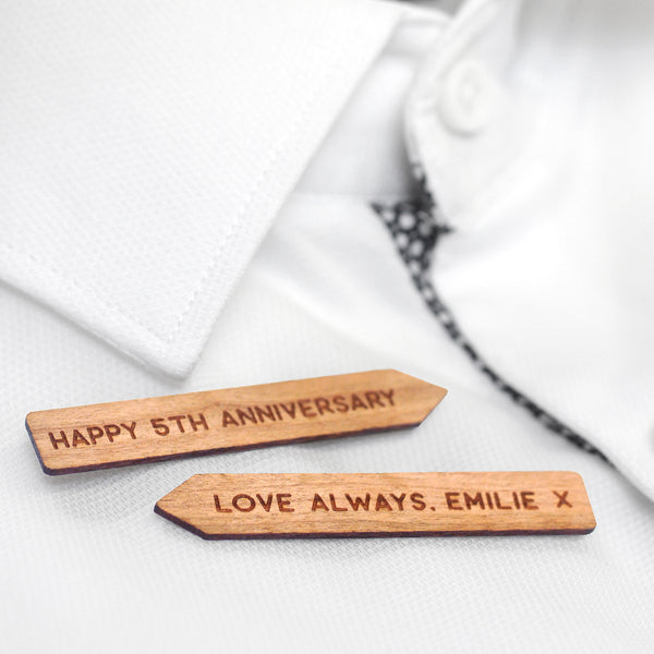 Personalised Wooden Collar Stiffeners