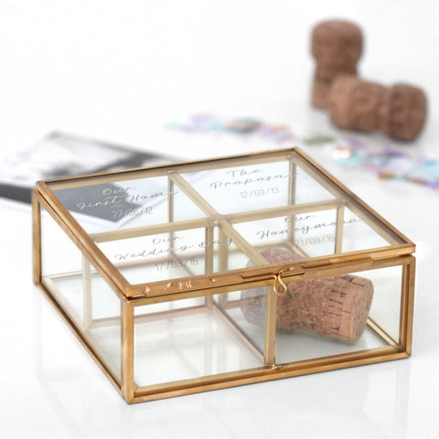 Personalised Glass Milestone Compartment Box