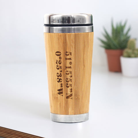 Personalised Coordinates Travel Mug