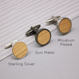 Wood Grain Cufflinks