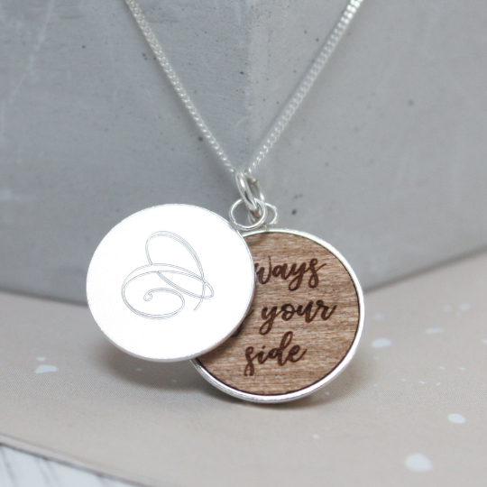 Personalised Secret Message Disc Necklace