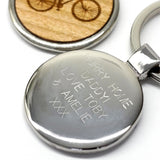 personalised message on keyring