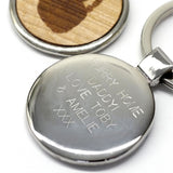 Personalised Wooden Handprint Keyring