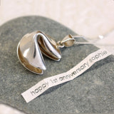 Fortune cookie necklace with secret note inside