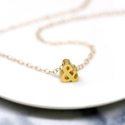 Ampersand Charm Necklace