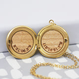 Personalised Round Locket Coordinates Necklace