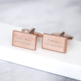 Personalised Rectangular Graduation Cufflinks