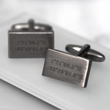Personalised Rectangular Coordinate Cufflinks
