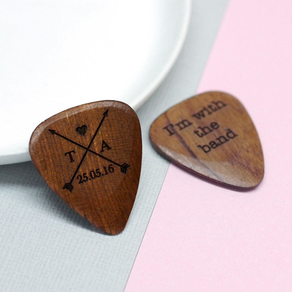 Plectrum with initials