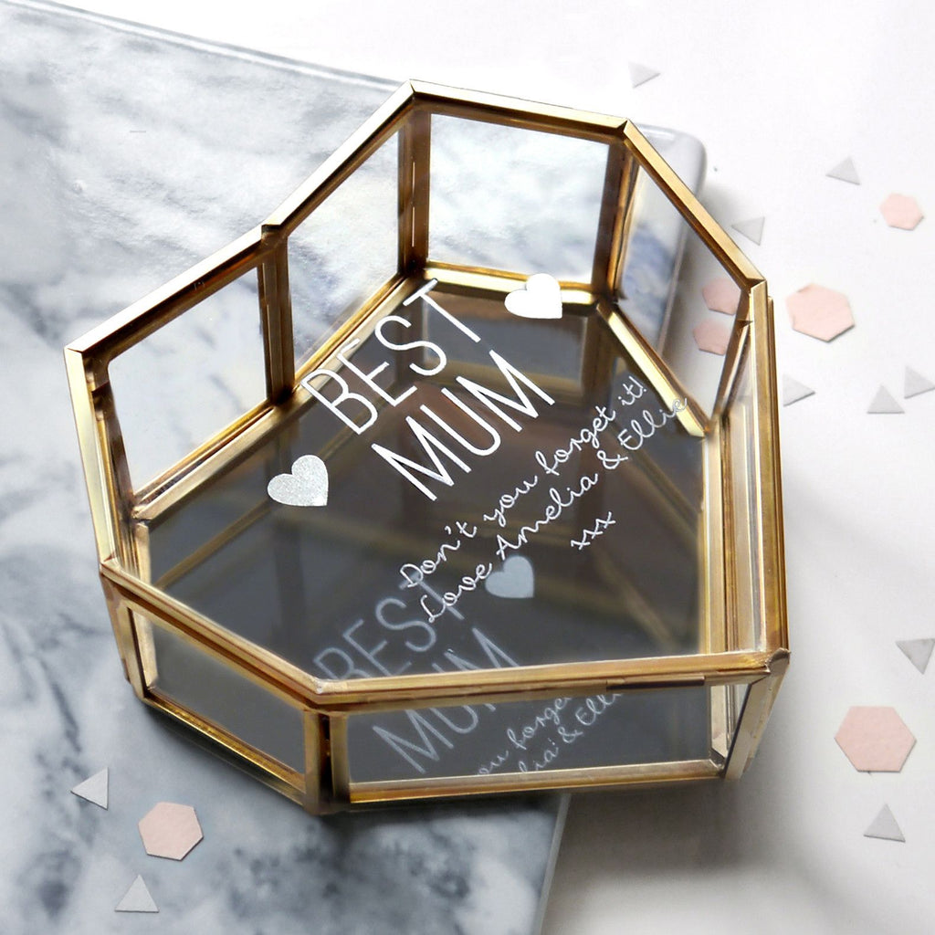 Personalised Best Mum Heart Jewellery Box